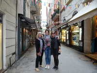 Shopping in San Remo, Italy